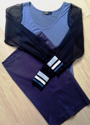 """Классическая юбка-карандаш """"pepe jeans"""" темно-синего цвета - xs/s"""