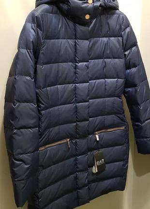 Брендовый женский пуховик куртка пальто emporio armani ea7, оригинал!  скидка! f24392957db