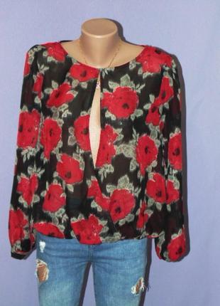Шифоновая блузочка в цветах