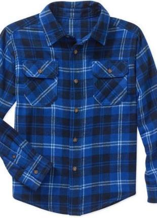 Рубашка фланелевая faded glory р. 6-7 лет