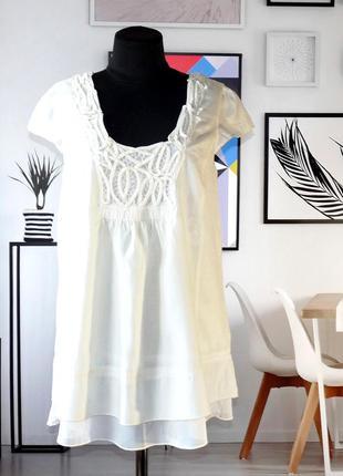 Блуза с ленточным кружевом