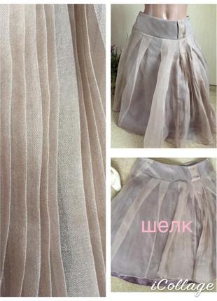 Миленькая дизайнерская шелковая юбка натуральный шелк karen millen