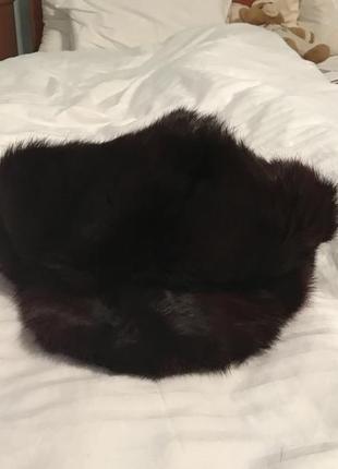 Шапка кепка меховая из кролика