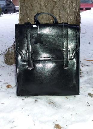 Рюкзак-сумка  элегантный из натуральной кожи
