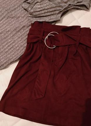 Бархатная юбка bershka