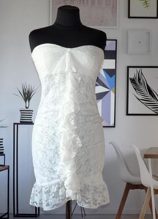 Платье бюстье кружевное