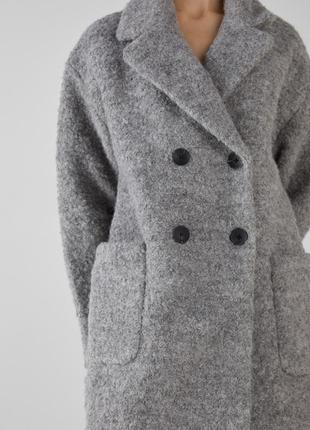 Пальто тёплое bershka размер s/m/l бойфренд over size
