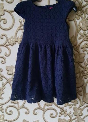 Красивое фирменное платье для принцессы  на 3-4 года