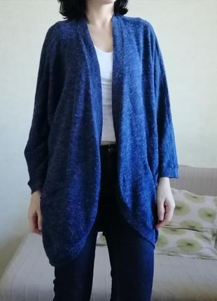 Кардиган открытого типа темно-синий vero moda