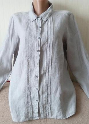 Рубашка льняная, состояние новой вещи, р 16