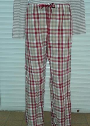 Очень стильные фланелевые домашние штаны m&s