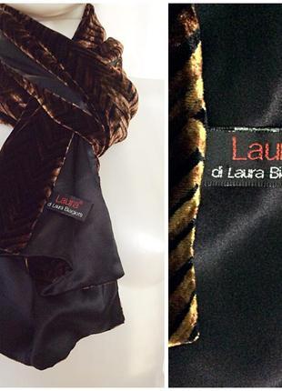 Laura biagiotti italy роскошный богатый шарф велюр бархат шёлк вискоза