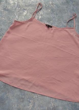 Пудровый топ майка в бельевом стиле от new look р.18 xxxl. лучшая цена!