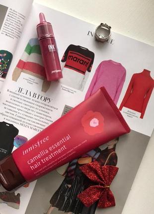 Маска для волосся  innisfree camellia essential hair treatment