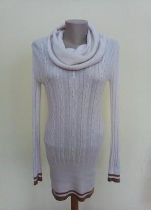 Теплый длинный свитер ангора