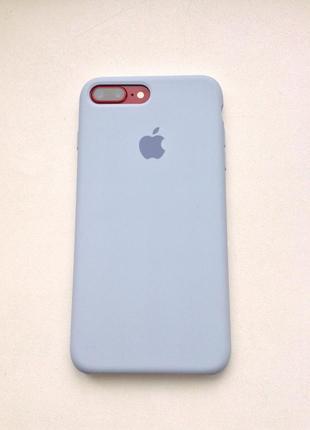 Чехол на айфон с логотипом apple iphone silicon case силиконовый 7+ 8+ 7 8 plus фиолетовый