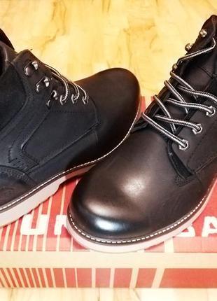 Мужские ботинки unionbay зимние кожа 43 - 43, 5 теплые мужские кожаные черные ботинки