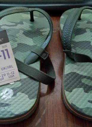 Вьетнамки шлепанцы flip-flops шлепки primark uk 10-11 р.28-29 19,5 см3 фото