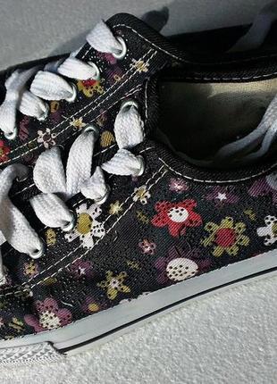 Кеды на невысокой платформе,38-39р,цветочный принт