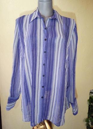 Рубашка из вискозы,большой размер,54-56