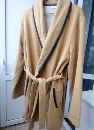 Брендовый  теплый мужской халат frette,большой размер