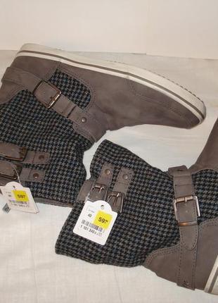 39-40 р. германия .новые. шикарные фирменные кожаные демисезонные ботинки, кеды venice