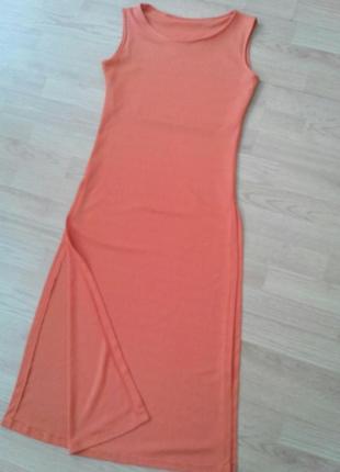 Летнее платье-сарафан с высокими разрезами р. s