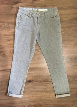 Фирменные джинсы в полоску!