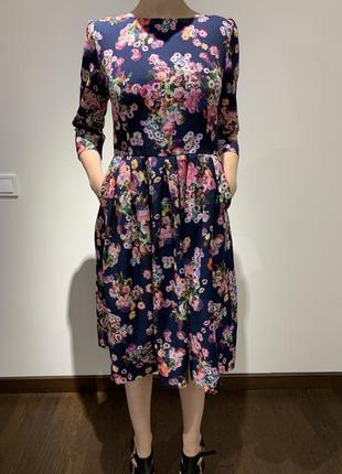 Платье vovk с рукавом 3/4 и кармашками