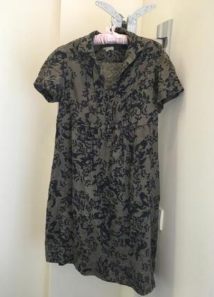 Летнее льняное платье британской марки kew