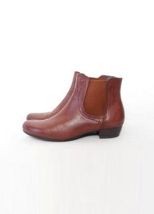 Кожаные классические осенние ботинки челси