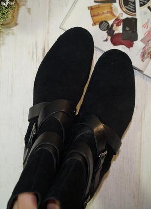 Clarks! кожа/замша! стильные ботинки, полусапожки на удобной танкетке3 фото