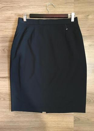 Базовая шерстяная юбка карандаш,100%шерсть