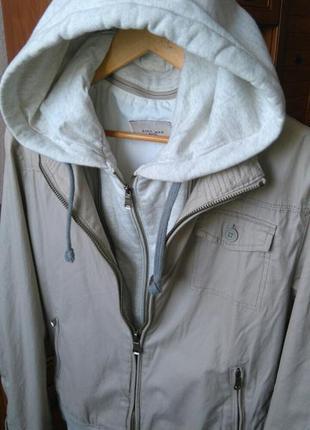 Молодежная куртка трансформер, куртка с капюшоном, анорак, бомбер, ветровка от zara man