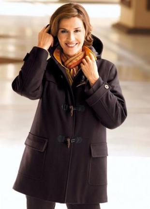 Шерстяное английское пальто дафлкот