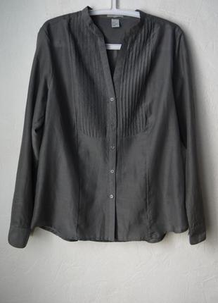 Хлопковая блуза хлопок+шелк