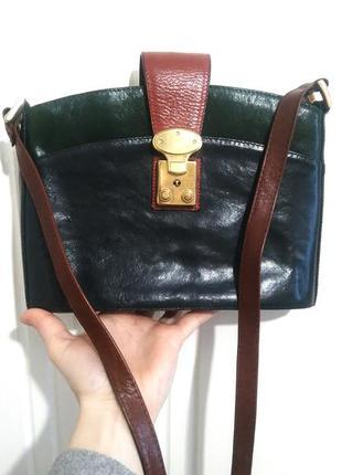 Винтаж 1980-х! сумка кроссбоди cerrucci натуральная кожа