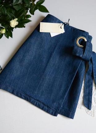 Stradivarius юбка трендова джинсова з кольцом