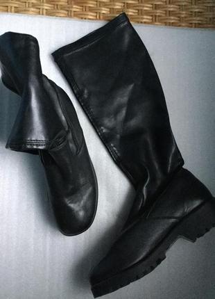 Сапоги-чулки кожаные rieker