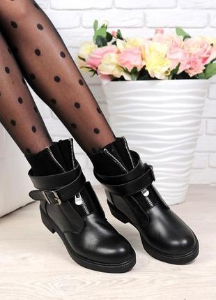 Хит🔥размеры: 36-40. демисезонные ботинки из натуральной кожи и замши с пряжкой