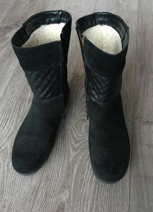 Сапоги, полусапоги зимние remonte, очень тёплые, на меху, замшевые, 38-39 размер