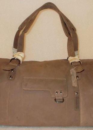 Большая мужская/дорожная сумка *deerberg* натуральная кожа