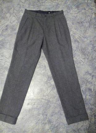 Шерстяные фирменные брюки