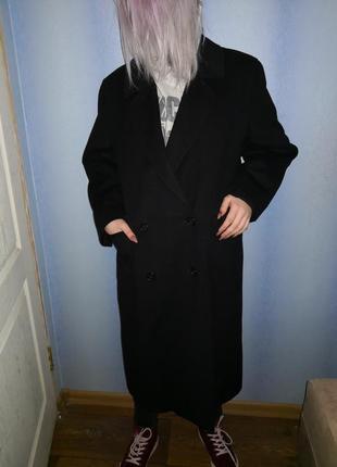 Пальто винтаж двубортное оверсайз кашемир burberry оригинал