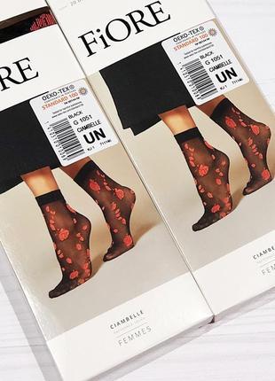 Носочки фантазийные с розочками fiore размер-универсальный.