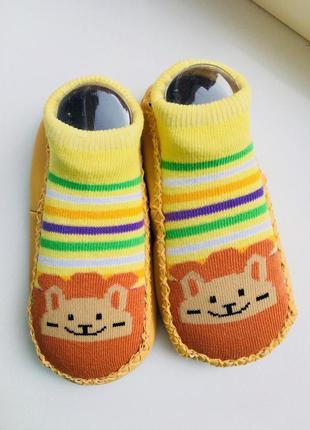 Носки - чешки укороченные антискользящие на ногу 14-16 см