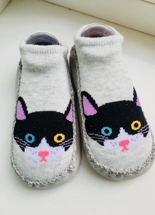 Носки - чешки укороченные антискользящие на ногу 14-16 см1 фото
