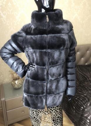 Норковая куртка/жилетка 2в1, antonio didone, новая, 42-46, 70 см