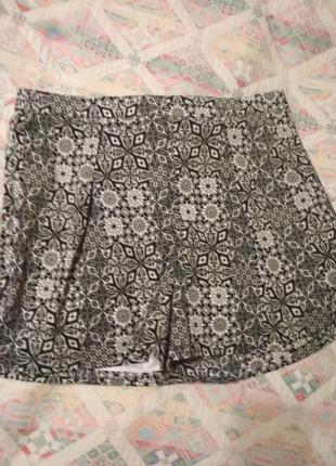 Шорты тканевые принт летние шорты
