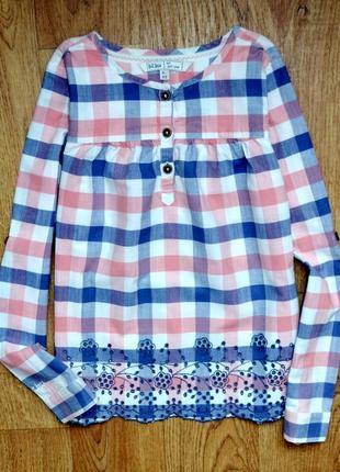 Fat face оригинальная  хлопковая блуза 8-9 лет